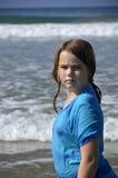 Girl and ocean. Royalty Free Stock Photos