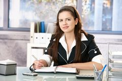 Girl in office Royalty Free Stock Photo