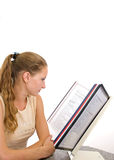Girl in the office 3 Royalty Free Stock Photos