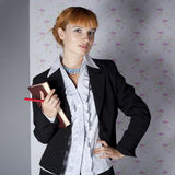Girl in office clothes Royalty Free Stock Photo