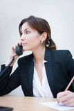 Girl in the office Stock Image