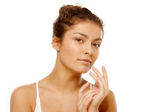 Girl with olive skin Stock Photos