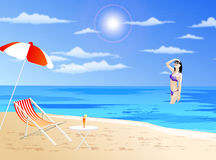 Free Girl On A Beach Royalty Free Stock Photos - 2523138