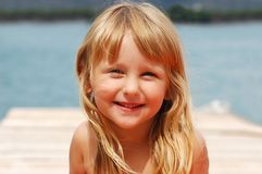 Girl On A Holidays Royalty Free Stock Photo