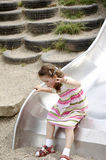 Girl On A Slide 01 Royalty Free Stock Images