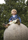Girl On A Sphere Stock Photography