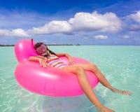 Free Girl On Air Mattress In Sea Stock Photos - 16587353