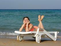 Free Girl On Beach Royalty Free Stock Image - 448056