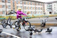 Girl On Bike Royalty Free Stock Image