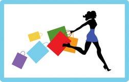 Girl On Shopping Royalty Free Stock Image
