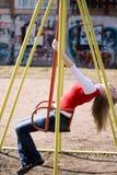 Girl On Swing Stock Photos