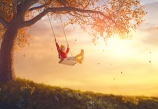 Girl On Swing Stock Image
