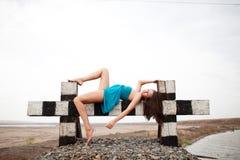 Free Girl On The Railway Stock Image - 10549021