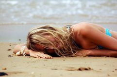 Free Girl On The Sea Beach Royalty Free Stock Images - 1547729