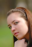 Girl on open air Royalty Free Stock Photography