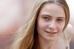 Girl on open air Stock Photo