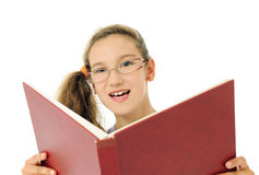 Girl with open book Royalty Free Stock Photography