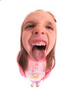 Girl with open mouth Stock Photography