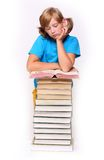 Girl with opened book Royalty Free Stock Photography
