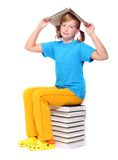Girl with opened book Royalty Free Stock Photos