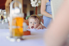 Girl with Opened Mouth Royalty Free Stock Photos