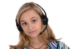 Girl-operator Stock Photos