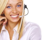 Girl the operator Royalty Free Stock Photos
