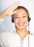 Girl the operator Stock Image