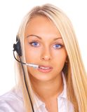 Girl the operator royalty free stock photo
