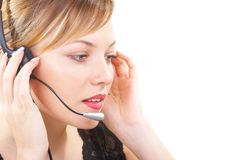 The girl operator Stock Photography