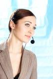 Girl operator Stock Image