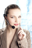 Girl operator Stock Images