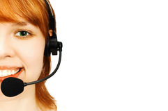Girl operator Royalty Free Stock Photos