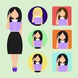 Girl operator call center Stock Photos
