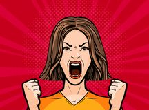 Free Girl Or Young Woman Screaming Out Loud. Pop Art Retro Comic Style. Cartoon Vector Illustration Stock Photos - 135065943