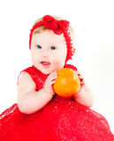 The girl and oranges Royalty Free Stock Photo