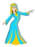 Girl oriental dancer vector cartoon Royalty Free Stock Photos