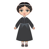 The girl in Orthodox Jews  dress.  Historical clothes. Royalty Free Stock Photos