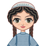 The girl in Orthodox Jews  dress.  Portrait, avatar. Royalty Free Stock Photography