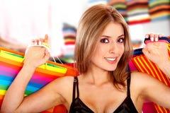 girl out shopping Στοκ φωτογραφίες με δικαίωμα ελεύθερης χρήσης