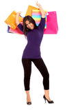 Girl out shopping Royalty Free Stock Image