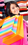 Girl out shopping Stock Photo