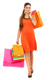 Girl out shopping Stock Photography