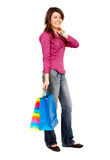 Girl out shopping Stock Image
