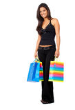 Girl out shopping Royalty Free Stock Photo