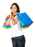 Girl out shopping Royalty Free Stock Photos