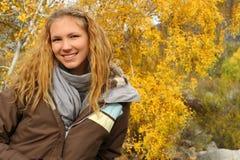 Girl outdoor. A altai trevel Stock Photography