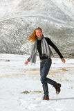 Girl outdoor. The girl outdoor portait from winter Royalty Free Stock Images