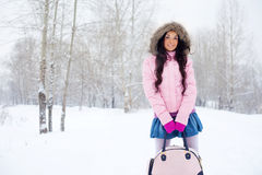 Girl outdoor Royalty Free Stock Photography
