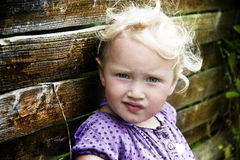Girl outdoor. Cute 3 year old girl outdoor Royalty Free Stock Images
